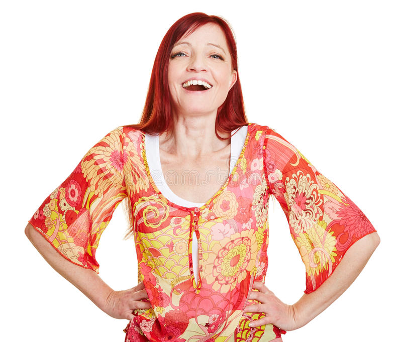 Download Happy Woman With Her Arms Akimbo Stock Image - Image: 30322765