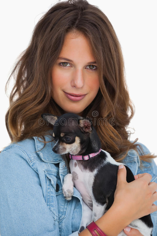 Download Happy Woman With Her Chihuahua Stock Image - Image: 33214631