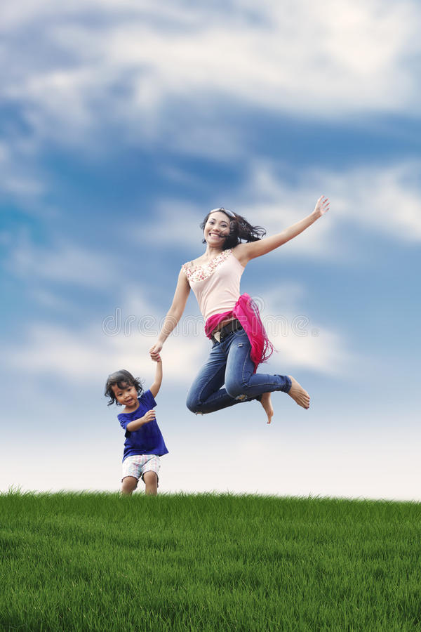 Download Happy Woman With Her Daughter Stock Photo - Image: 24925540