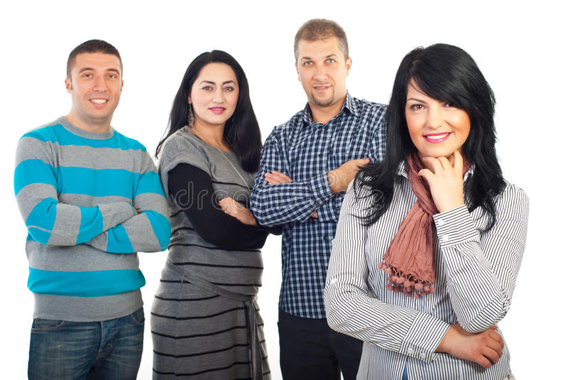 Happy Woman And Her Friends Stock Image