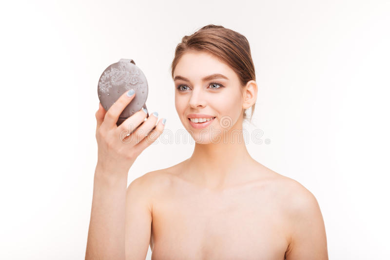 woman holding hand mirror. download happy woman holding mirror stock image. image of face - 67939831 hand o