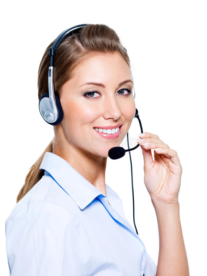 Free Happy Woman In Headset Stock Images - 16151844