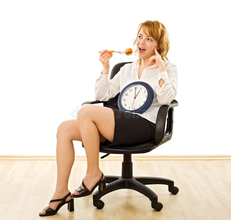 Free Happy Woman In Lunch-time Stock Photo - 15069430