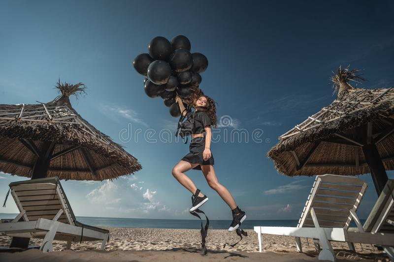 Download Freedom And Imagination Concept Stock Photo - Image of active, black: 118077464