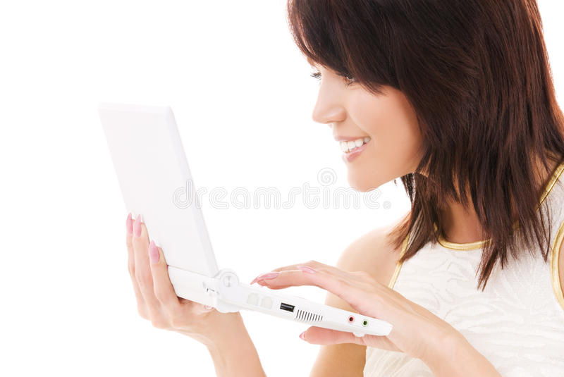 Download Happy Woman With Laptop Computer Stock Photo - Image: 10320314