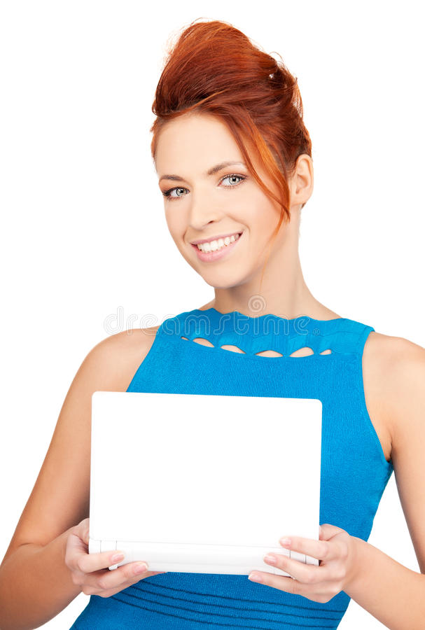 Download Happy Woman With Laptop Computer Stock Image - Image: 40475225