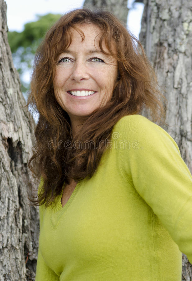 Download Happy woman laughing stock photo. Image of mature, freckles - 24500028