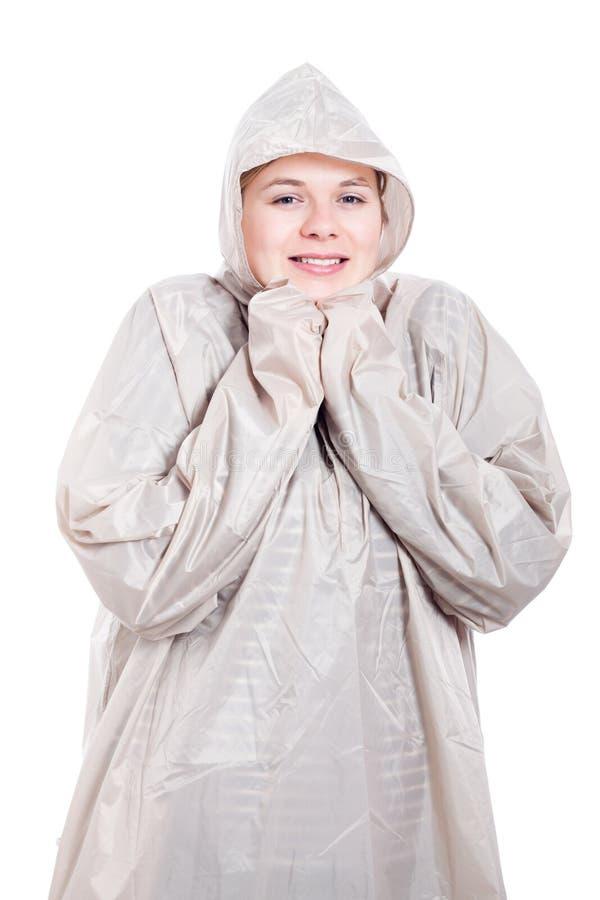 Download Happy woman in raincoat stock image. Image of waterproof - 24874283