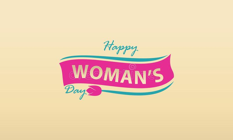 Happy Woman`s Day Template. Happy Woman`s Day Logo Design Template Vector stock illustration