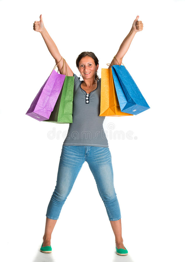 Download Happy Woman With Shopping Bags Stock Image - Image: 33245521