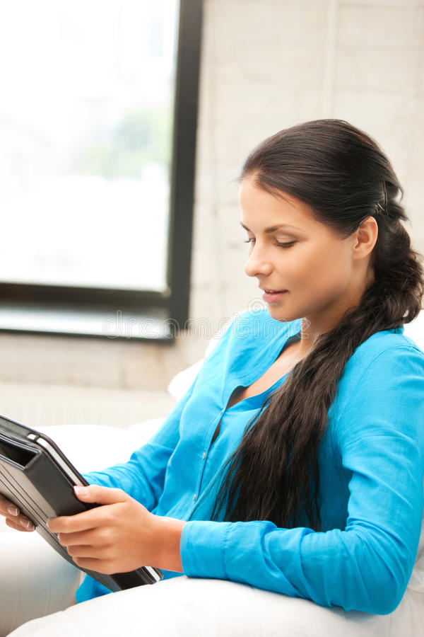 Download Happy Woman With Tablet Pc Computer Stock Photo - Image: 20514118
