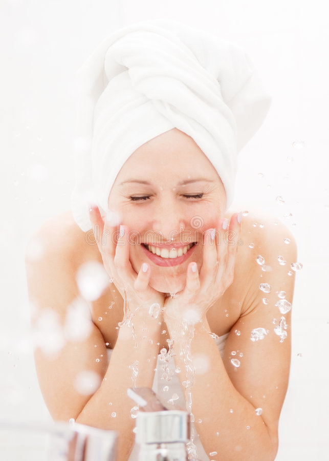 Download Happy woman wash herself stock photo. Image of clean, head - 7887846