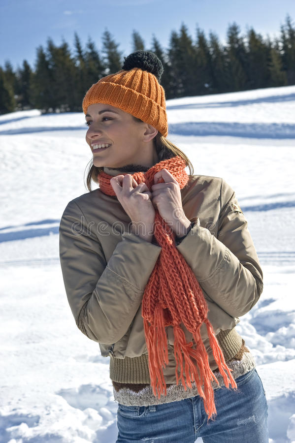 Download Happy woman in winter time stock image. Image of clothes - 27532773