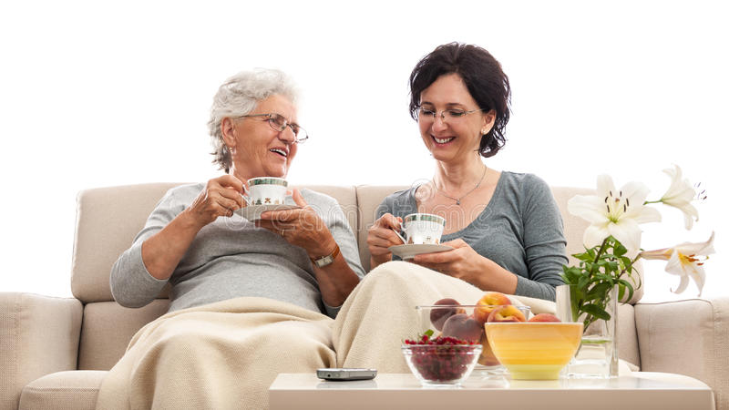 Download Happy Women Family Coffee Small Talk Gossip Stock Photo - Image of chatting, life: 33067684