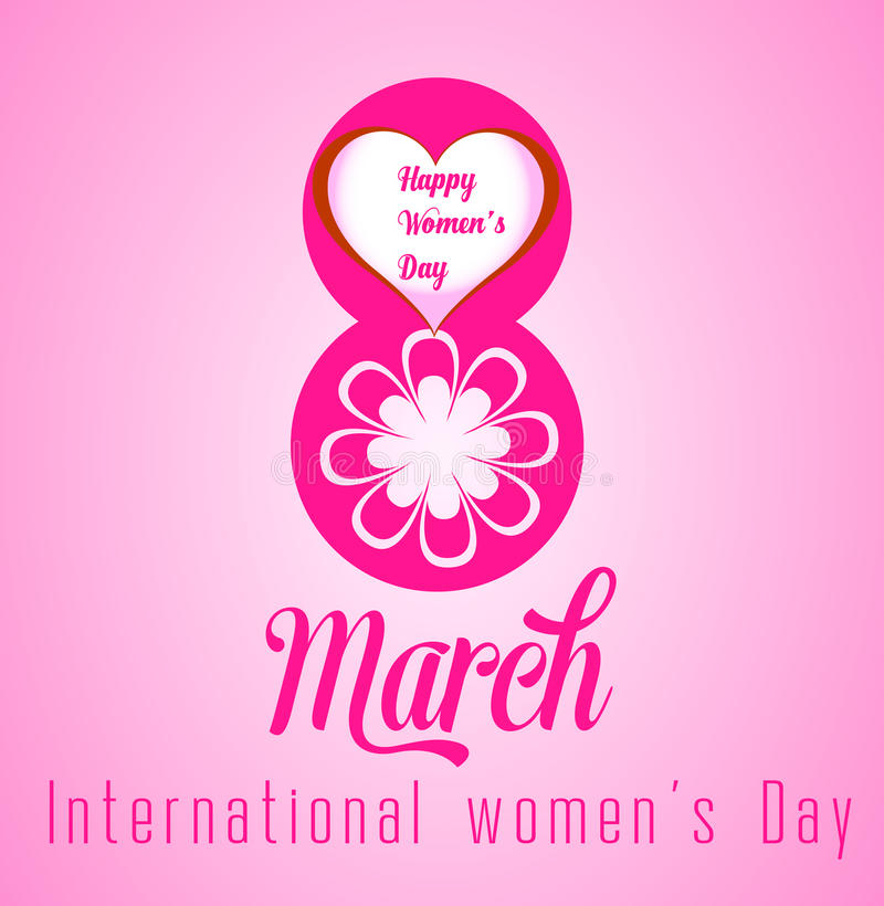 Happy Women's Day celebrations concept with stylish pink text. Happy Women's Day celebrations concept stock illustration