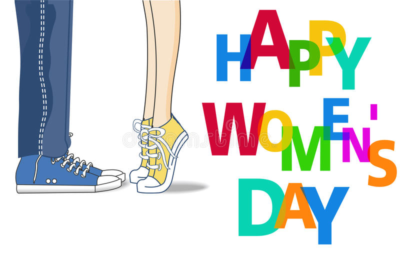 Happy Womens Day Design Element, Womens Day background stock illustration