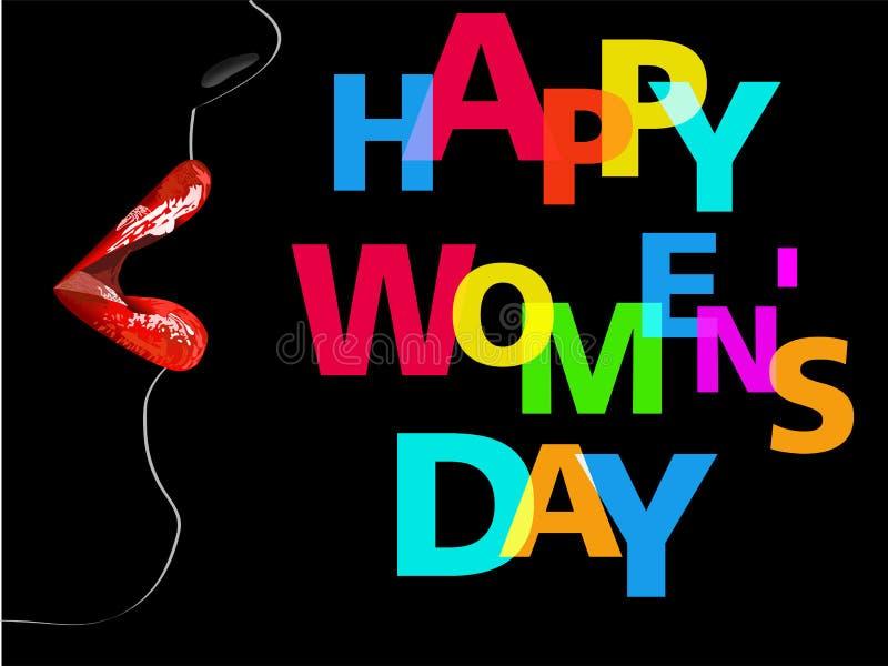 Happy Women's Day Design Element, Women's Day stock illustration
