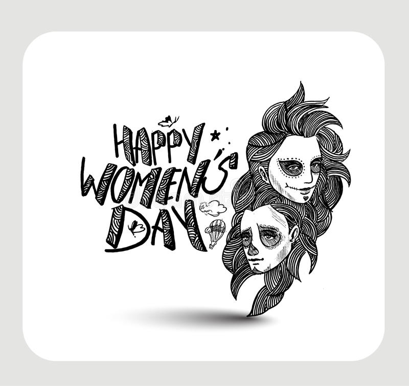 Download Happy Women`s Day Greeting Card Design. Stock Vector - Illustration: 86566383