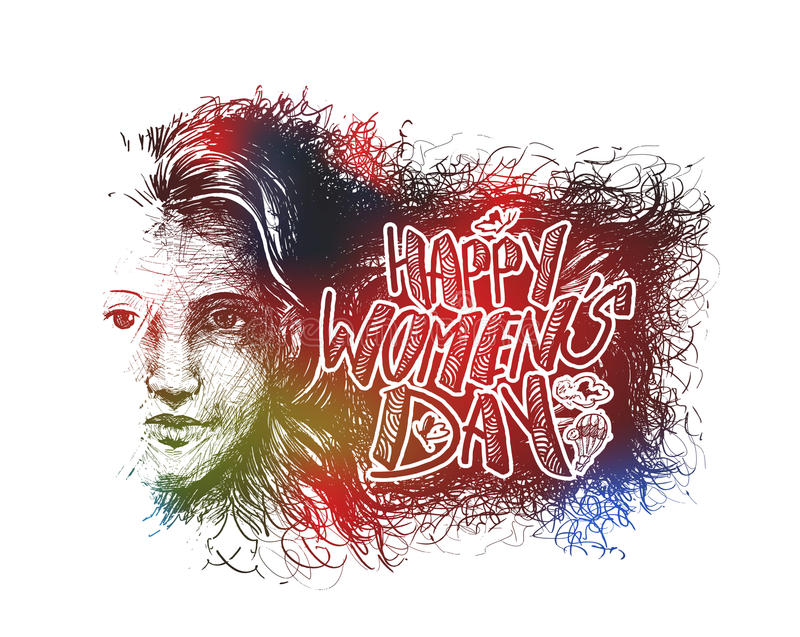Download Happy Women`s Day Greeting Card Design. Stock Vector - Illustration of advertisement, card: 86566411