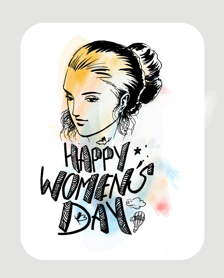 Download Happy Women`s Day Greeting Card Design. Stock Vector - Illustration: 86566425
