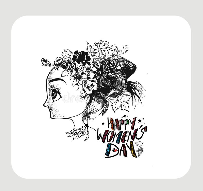 Download Happy Women`s Day Greeting Card Design. Stock Vector - Illustration of decoration, international: 86566451