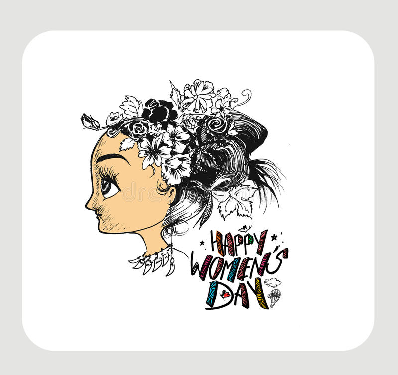 Download Happy Women`s Day Greeting Card Design. Stock Vector - Illustration: 86566472