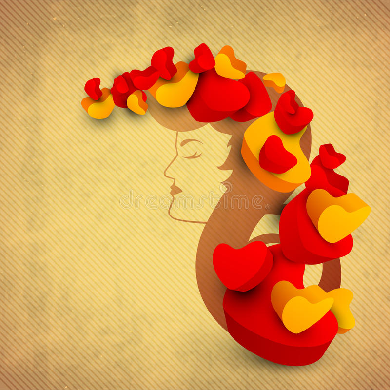 Download Happy Women's Day Greeting Card Or Vintage Background With A Ske Stock Illustration - Image: 29254726