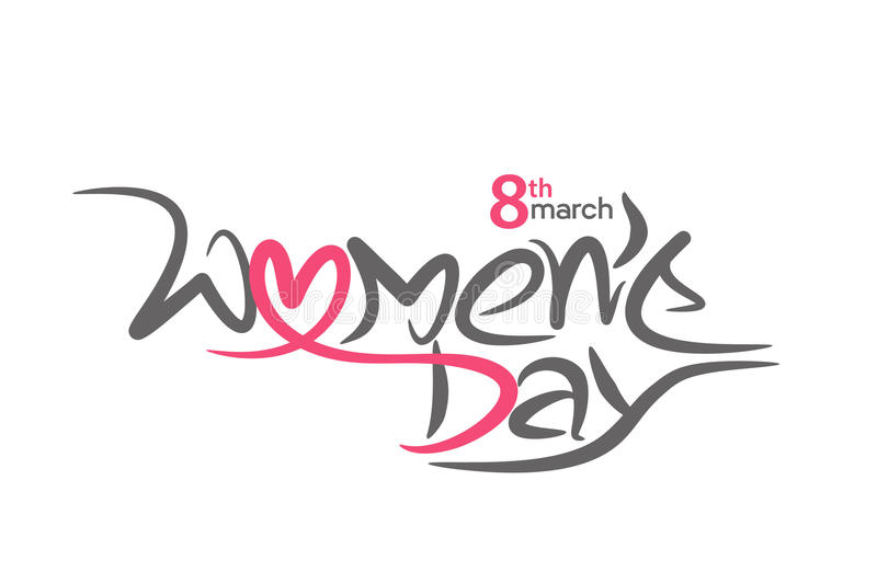 Download Happy Women`s Day Stylish Typography Text Stock Vector - Illustration of happiness, design: 86566418