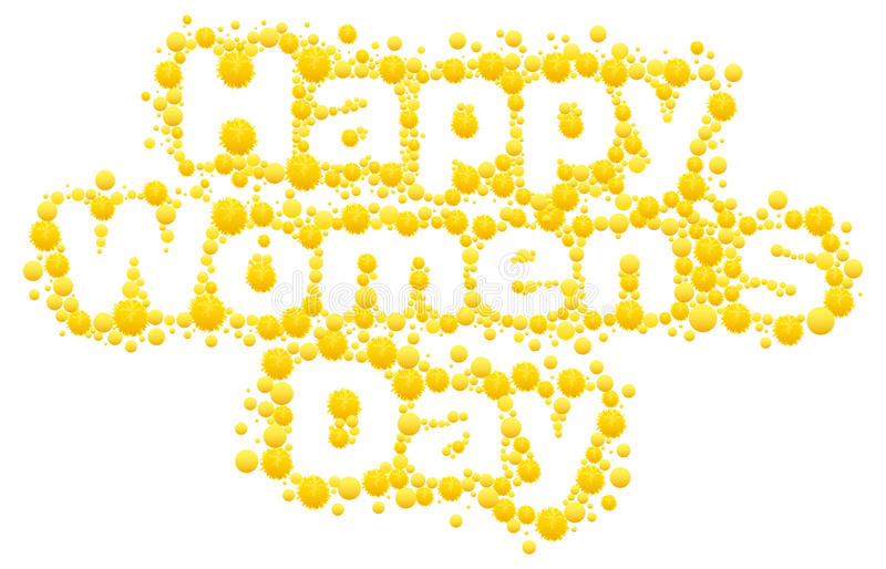happy womens day yellow mimosa flower acacia flower symbol of