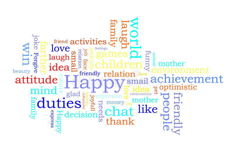 Download Happy word cloud stock vector. Image of word, love, family - 27203682