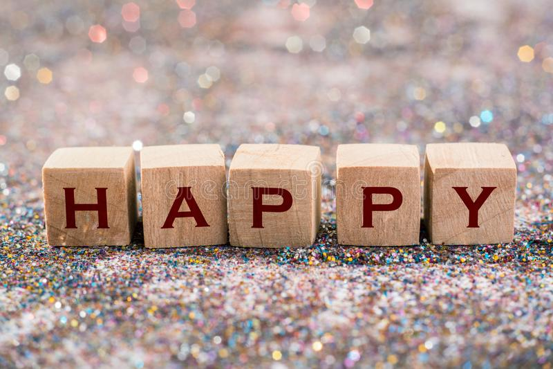 Happy word royalty free stock images