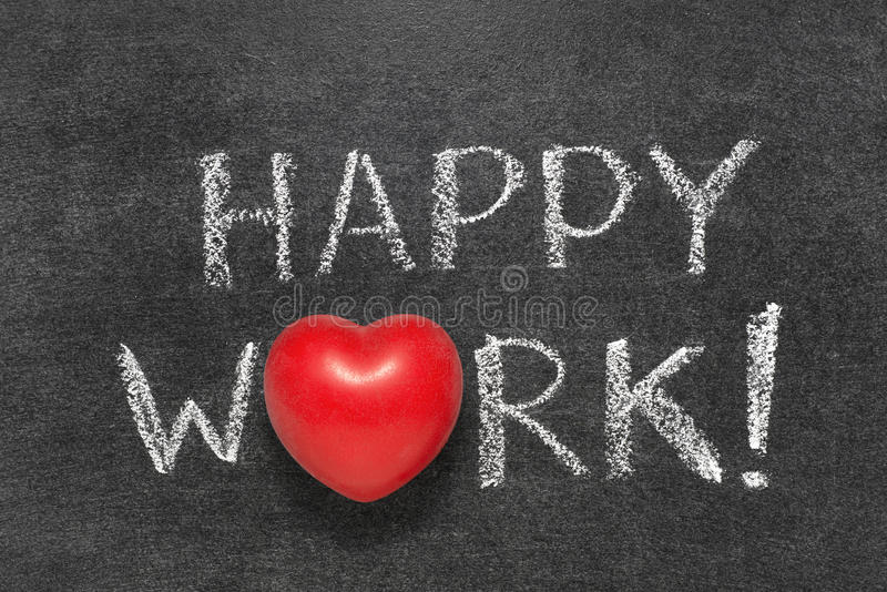Happy work chb stock photography