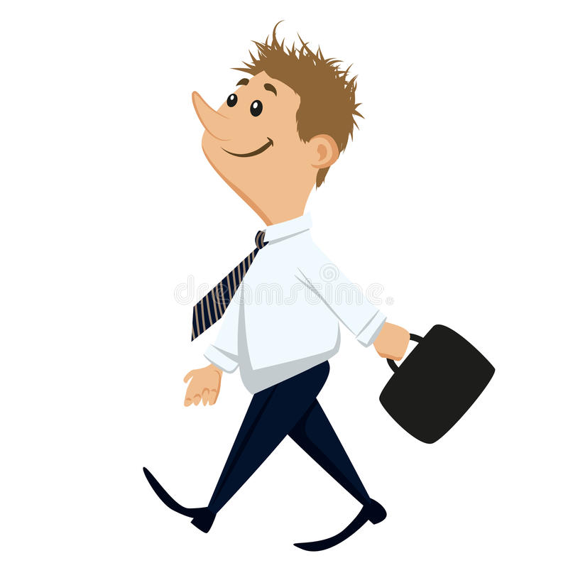 Happy working man royalty free illustration