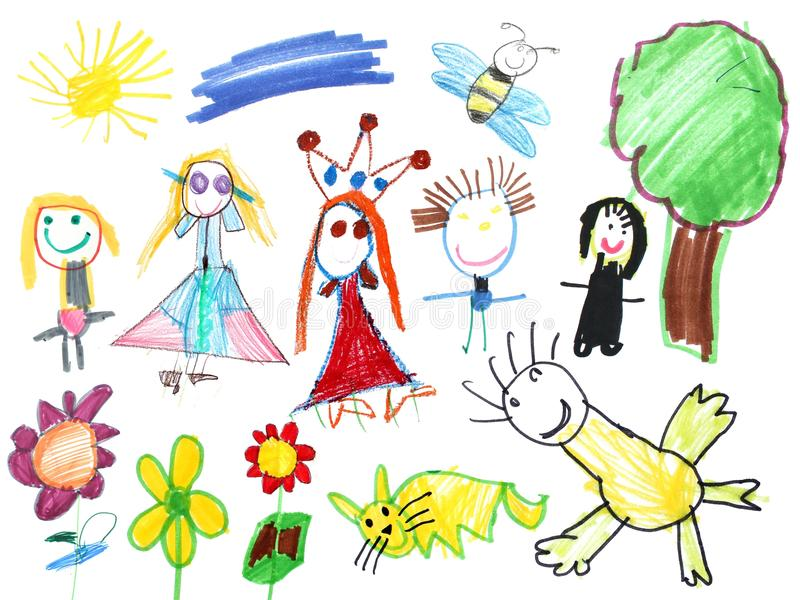 Happy world child drawing
