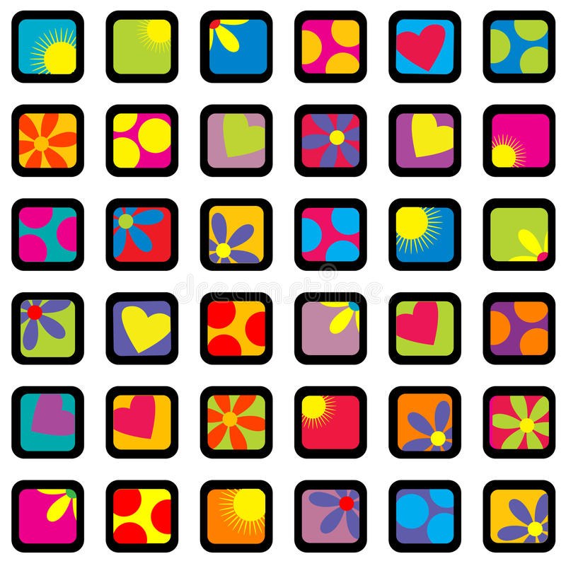 Happy wrapping paper design. Background for kids vector illustration