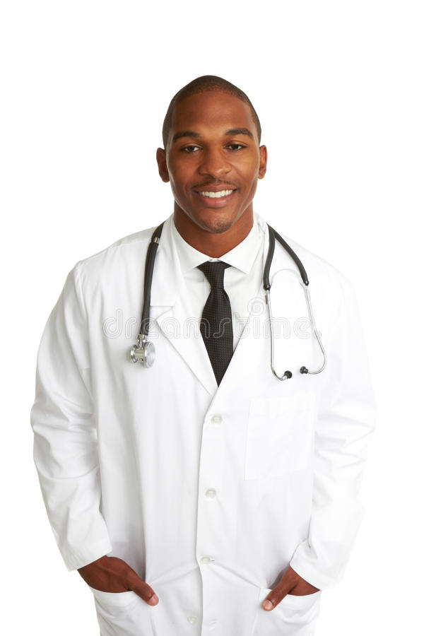 Happy Young African-American Doctor royalty free stock photo