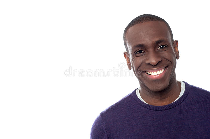 Happy young african model stock image
