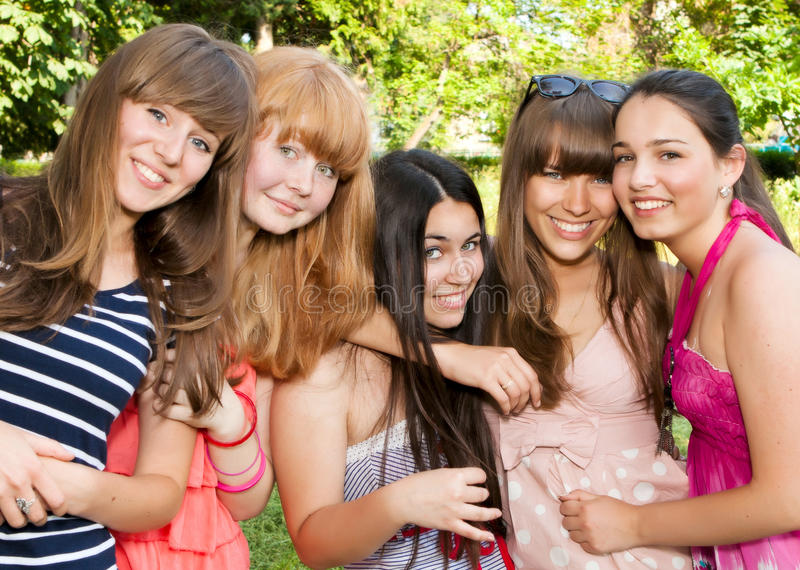 Download Happy Young And Attractive Girlfriends Stock Image - Image: 20334535