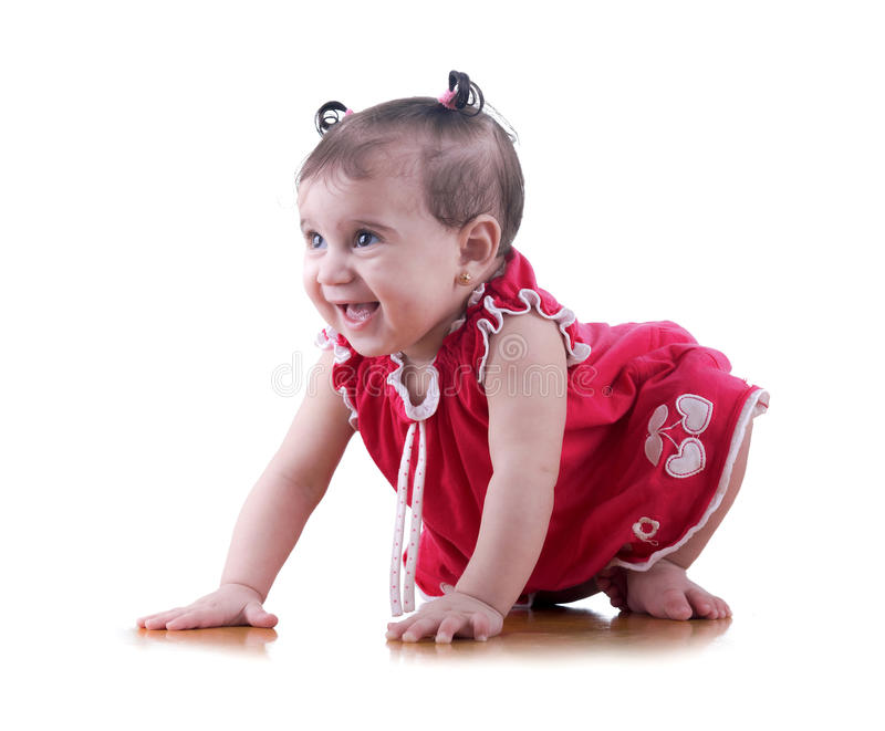 Happy Young Baby Girl stock photography