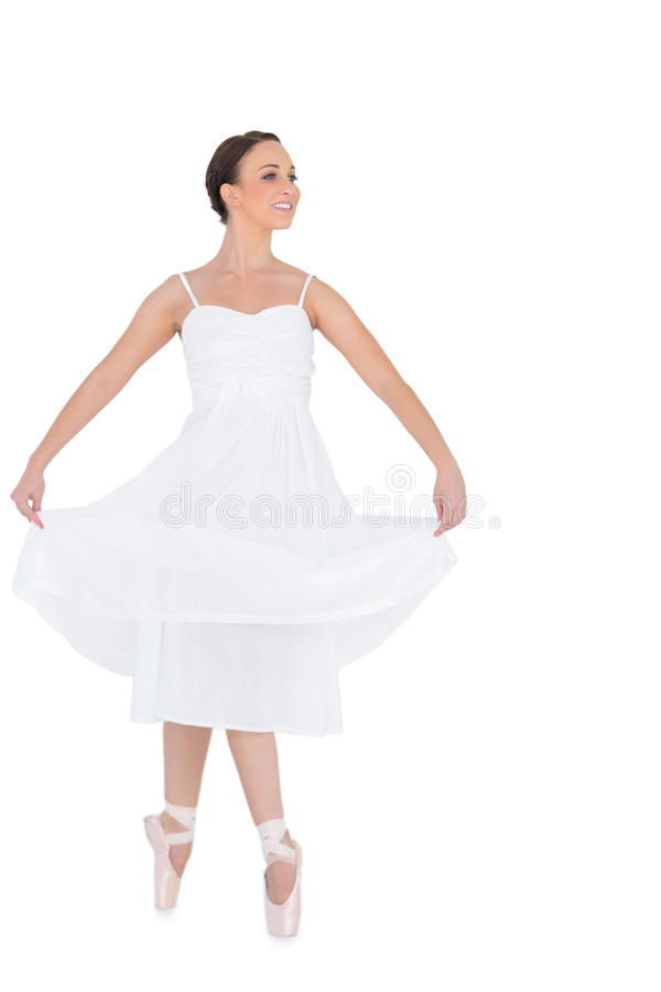 Happy young ballet dancer isolated royalty free stock photo