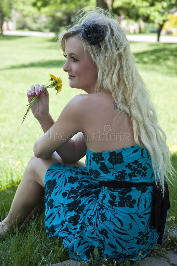 Download Happy Young Blond Woman Royalty Free Stock Photography - Image: 26471037