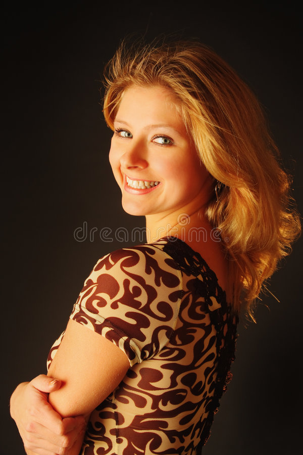 Download Happy young blond woman stock image. Image of radiance - 3808087