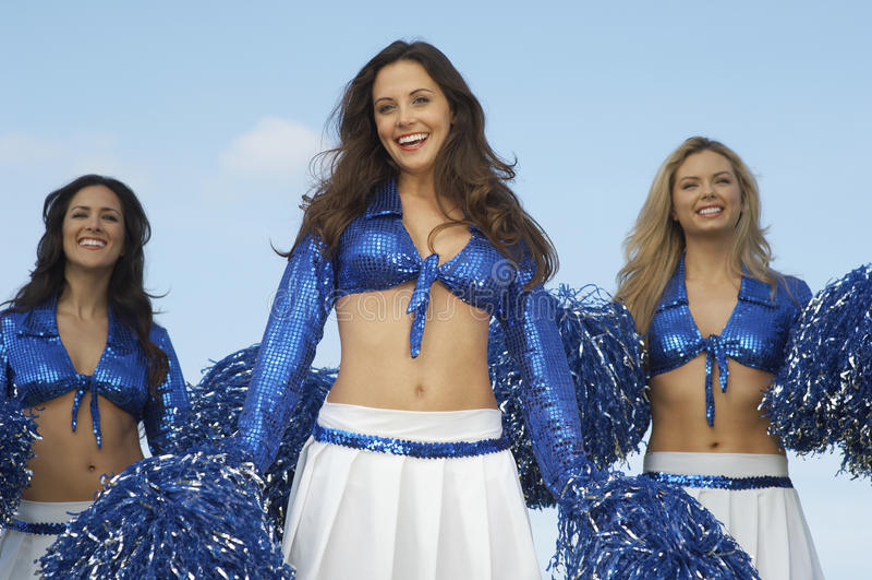 Happy Young Cheerleaders stock images