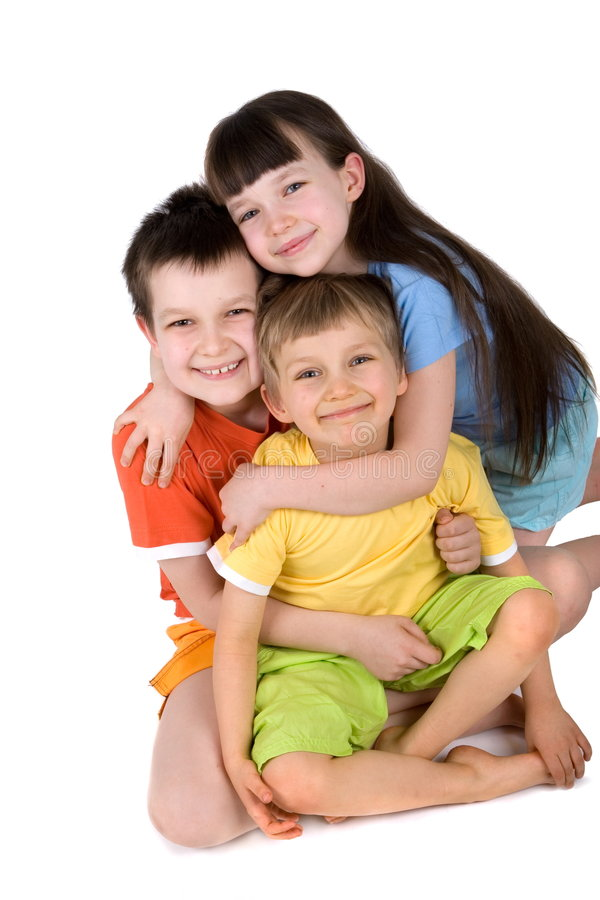 Happy Young Children stock image