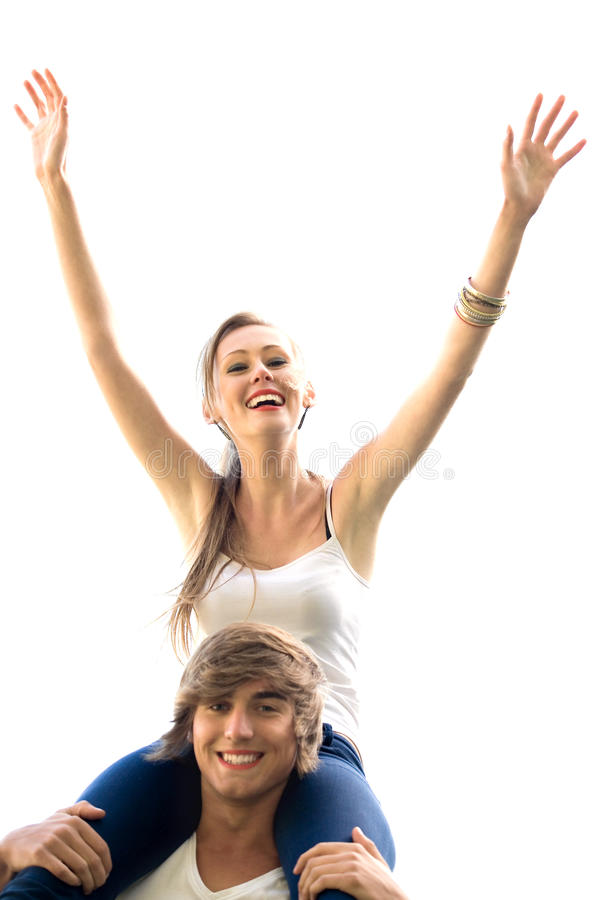 Download Happy young couple stock photo. Image of smile, arms - 11361904