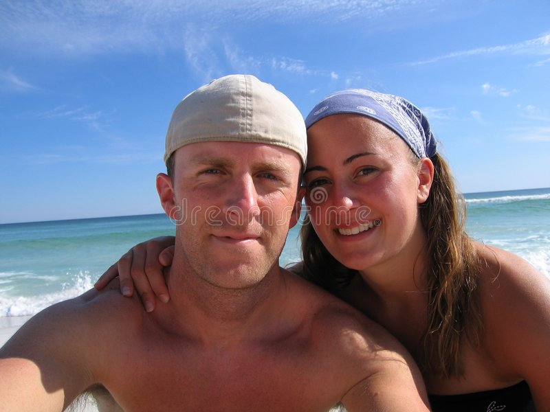 Download Happy Young Couple stock photo. Image of ocean, coast, woman - 169706