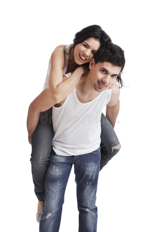 Download Happy young couple stock image. Image of casual, love - 19442217