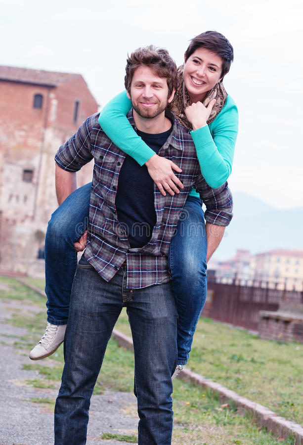 Happy Young Couple royalty free stock photos