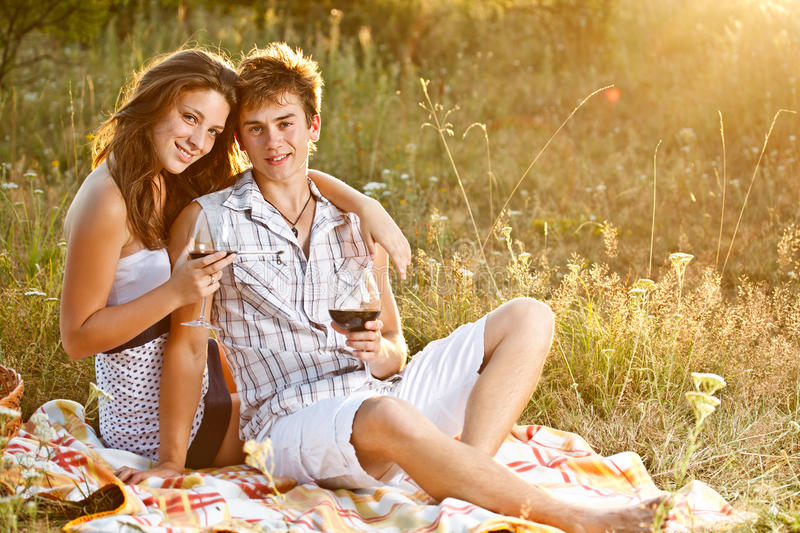 Download Happy young couple stock image. Image of enjoying, countryside - 25852101
