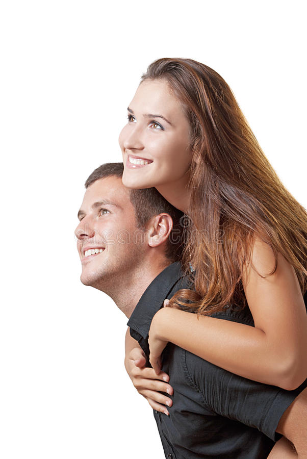 Happy young couple stock photography